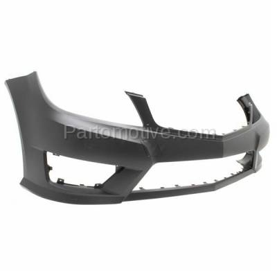 Aftermarket Replacement - BUC-2797FC CAPA 12-15 C-Class w/ AMG Front Bumper Cover Primed MB1000358 20488078479999 - Image 2