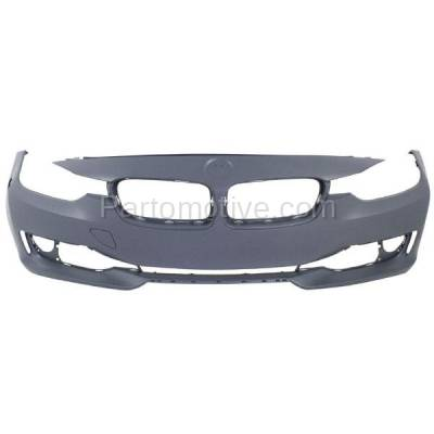 Aftermarket Replacement - BUC-1176FC CAPA 12-15 3-Series Front Bumper Cover Assy w/o M Package BM1000276 51117293085 - Image 1