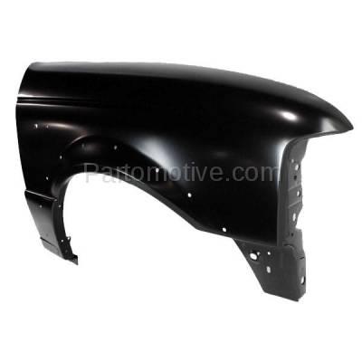 Aftermarket Replacement - FDR-1601RC CAPA 1998-2003 Ford Ranger Pickup (2WD & 4WD) Front Fender Quarter Panel (with Wheel Opening Molding Holes) Steel Right Passenger Side - Image 2