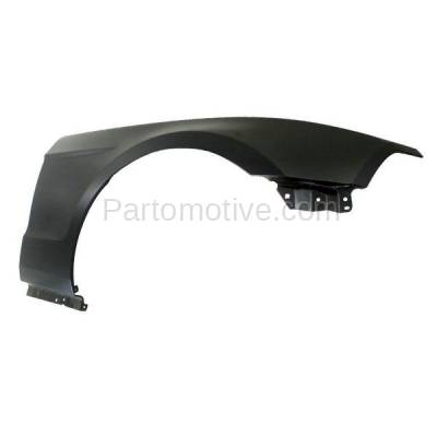 Aftermarket Replacement - FDR-1517RC CAPA 2010-2014 Ford Mustang V6/V8 (Convertible & Coupe) Front Fender Quarter Panel (without Pony Package) Primed Steel Right Passenger Side - Image 2