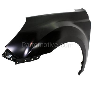 Aftermarket Replacement - FDR-1543LC CAPA 2010-2014 Subaru Outback (2.5 & 3.6 Liter Engine) Front Fender Quarter Panel (without Molding Holes) Steel Left Driver Side - Image 2
