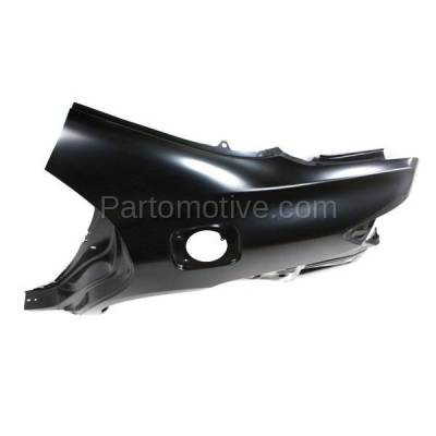 Aftermarket Replacement - FDR-1177L 2009-2013 Toyota Corolla (USA Built) Rear Fender Quarter Panel (with Holes for Vent Duct and Gas Door) Primed Steel Left Driver Side - Image 2