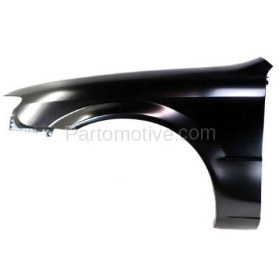 Aftermarket Replacement - FDR-1575L 2001-2003 Mazda Protege Front Fender Quarter Panel without Side Repeater Lamp (without MP3 Package) Primed Steel Left Driver Side - Image 1