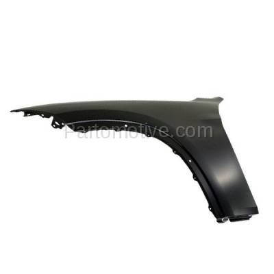 Aftermarket Replacement - FDR-1815LC CAPA 2013-2015 BMW X1 (2.0 & 3.0 Liter Engine) Front Fender Quarter Panel (without Turn Signal Light Holes) Steel Left Driver Side - Image 2