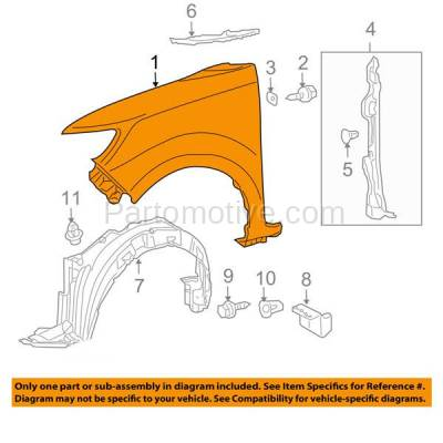Aftermarket Replacement - FDR-1828RC CAPA 2008-2015 Scion xB (Wagon 4-Door) (2.4 Liter 4Cyl Engine) Front Fender Quarter Panel (without Molding Holes) Steel Right Passenger Side - Image 3