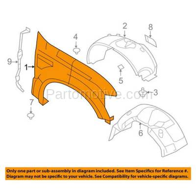 Aftermarket Replacement - FDR-1284LC CAPA 2008-2010 Ford F250 & F350 Super Duty Pickup Truck (Standard, Extended, Crew Cab) Front Fender Quarter Panel Left Driver Side - Image 3