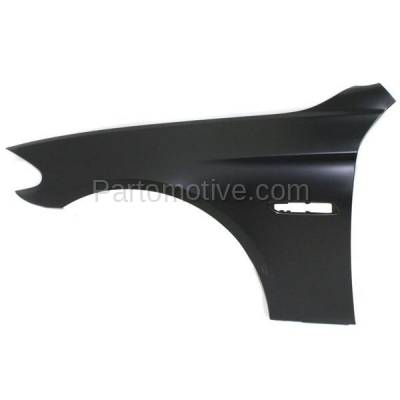 Aftermarket Replacement - FDR-1026LC CAPA 2011-2016 BMW 5-Series (Sedan 4-Door) Front Fender Quarter Panel (with Molding Holes) Primed Aluminum Left Driver Side - Image 1
