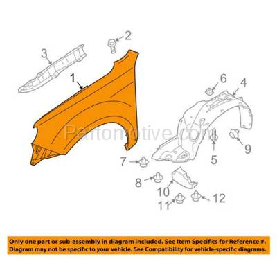 Aftermarket Replacement - FDR-1326RC CAPA 2009-2013 Subaru Forester (2.5 Liter H4 Engine) Front Fender Quarter Panel (without Molding Holes) Primed Steel Right Passenger Side - Image 3