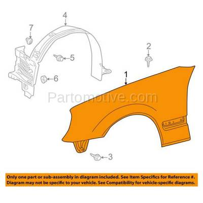 Aftermarket Replacement - FDR-1222RC CAPA 2000-2003 Mercedes Benz E-Class E320 E430 (without AMG Styling Package) Front Fender Quarter Panel Primed Right Passenger Side - Image 3
