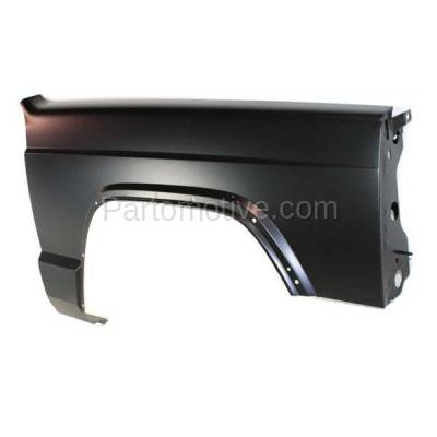 Aftermarket Replacement - FDR-1141RC CAPA 1997-2001 Jeep Cherokee Front Fender Quarter Panel (with Fender Flare Holes) without Antenna Hole Steel Right Passenger Side - Image 2