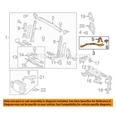 Aftermarket Replacement - RSP-1786L 2013-2018 Toyota RAV4 (Adventure, LE, Limited, Platinum, XLE) 2.5L Front Radiator Support Upper Tie Bar Bracket Primed Steel Left Driver Side - Image 3