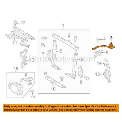 Aftermarket Replacement - RSP-1786R 2013-2018 Toyota RAV4 (Adventure, LE, Limited, Platinum, XLE) 2.5L Front Radiator Support Upper Tie Bar Bracket Primed Steel Right Passenger Side - Image 3