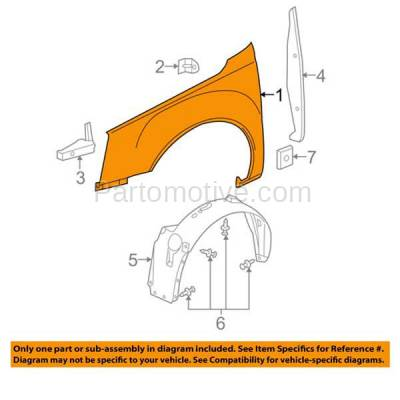Aftermarket Replacement - FDR-1218RC CAPA 2006-2011 Cadillac DTS (Hearse & Limousine & Sedan 4-Door) 4.6L Front Fender Quarter Panel Primed Steel Right Passenger Side - Image 3