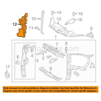 Aftermarket Replacement - RSP-1762R 2014-2016 Toyota Highlander (LE, LE Plus, Limited, XLE) Front Radiator Support Side Air Deflector Primed Made of Plastic Right Passenger Side - Image 3