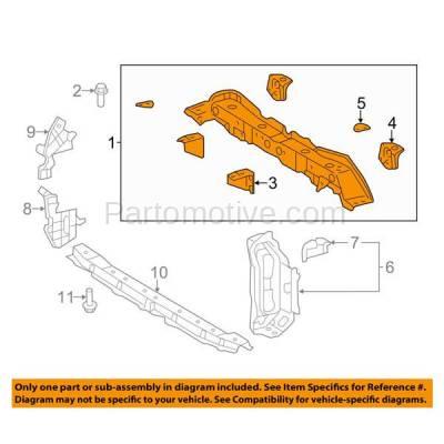 Aftermarket Replacement - RSP-1830 2015-2018 Toyota Yaris (Base, CE, L, LE, SE) 1.5L (France Built) Front Radiator Support Upper Crossmember Tie Bar Panel Primed Steel - Image 3