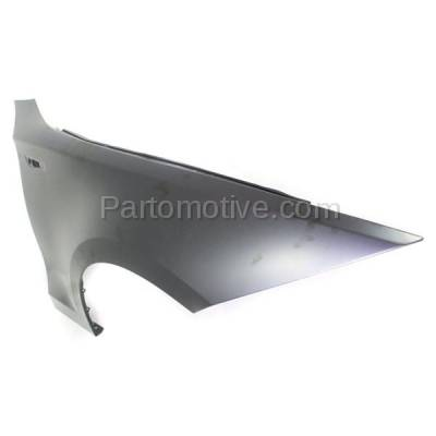 Aftermarket Replacement - FDR-1000RC CAPA 2008-2013 BMW 1-Series (Convertible & Coupe) Front Fender Quarter Panel (without Molding Holes) Primed Steel Right Passenger Side - Image 2