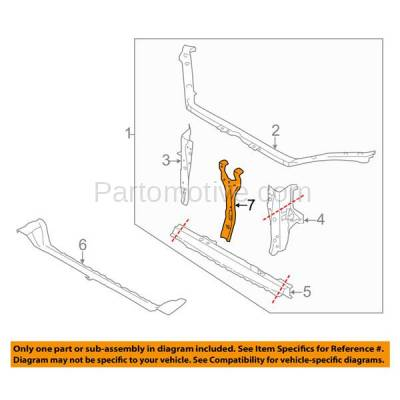 Aftermarket Replacement - RSP-1680 2008-2014 Subaru Impreza & 2013-2014 WRX/WRX STI Front Radiator Support Center Latch Support Assembly Primed Made of Steel - Image 3