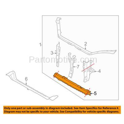 Aftermarket Replacement - RSP-1681 2009-2013 Subaru Forester & 2008-2014 Impreza & 2013-2014 WRX/WRX STi Front Radiator Support Lower Inner Crossmember Tie Bar - Image 3