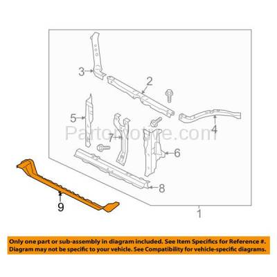 Aftermarket Replacement - RSP-1674 2014-2018 Subaru Forester 2.0XT (Limited, Premium, Touring) 2.0L Wagon Front Radiator Support Lower Crossmember Tie Bar Panel Steel - Image 3
