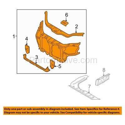 Aftermarket Replacement - RSP-1436 2006-2011 Kia Rio & Rio5 (Hatchback & Sedan) (1.6 Liter Engine) Front Center Radiator Support Core Assembly Primed Made of Steel - Image 3