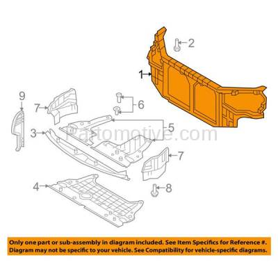 Aftermarket Replacement - RSP-1410 2009-2010 Hyundai Sonata (GL, GLS, Limited, SE) Sedan (2.4L/3.3L) Front Radiator Support Core Assembly Primed Made of Plastic with Steel - Image 3