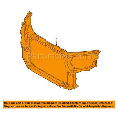 Aftermarket Replacement - RSP-1445 2014-2015 Kia Sorento (EX, Limited, LX, SX) (2.4 & 3.3 Liter Engine) Front Center Radiator Support Core Assembly Primed Made of Steel - Image 3