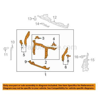 Aftermarket Replacement - RSP-1381 2012-2015 Honda Pilot (EX, EX-L, LX, SE, Touring) (3.5 Liter V6 Engine) Front Center Radiator Support Core Assembly Primed Steel - Image 3