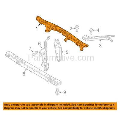Aftermarket Replacement - RSP-1605 2011-2017 Nissan Juke (Nismo, Nismo RS, S, SL, SV) 1.6L Front Radiator Support Upper Crossmember Tie Bar Panel Primed Steel - Image 3