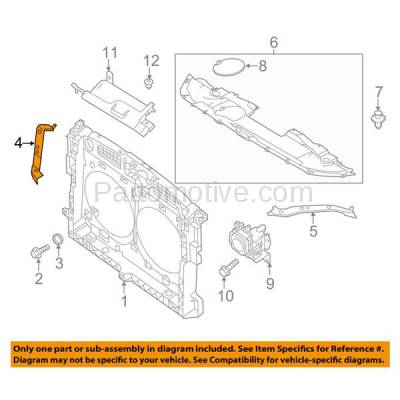 Aftermarket Replacement - RSP-1609R 2013 Infiniti JX35 & 2014-2018 Infiniti QX60 (Base & Hybrid) Front Radiator Support Upper Bracket Brace Support Panel Steel Right Passenger Side - Image 3