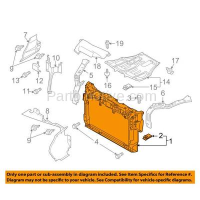 Aftermarket Replacement - RSP-1483 2007-2010 Mazda CX-7 (Grand Touring, GS, GT, GX, Sport, SV, Touring) (2.3 & 2.5 Liter Engine) Radiator Support Core Assembly Plastic - Image 3