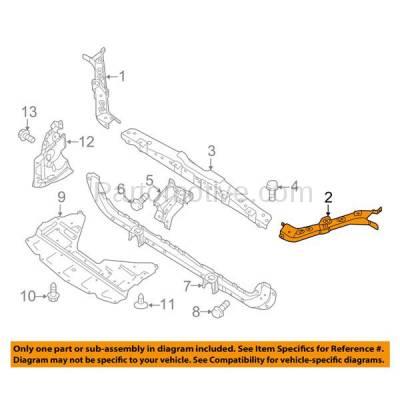 Aftermarket Replacement - RSP-1631L 2014-2018 Nissan Rouge (S, SL, SV & Hybrid) Front Radiator Support Upper Tie Bar Bracket Panel Primed Made of Steel Left Driver Side - Image 3