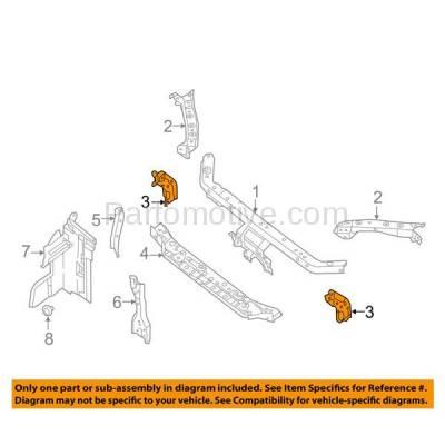 Aftermarket Replacement - RSP-1636R 2013-2018 Nissan Sentra (FE+S, FE+SV, S, SL, SR, SV) 1.8L Sedan Front Radiator Support Bracket Brace Panel Steel Right Passenger Side - Image 3