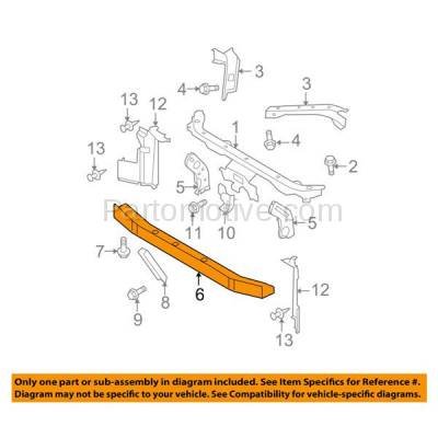 Aftermarket Replacement - RSP-1644 2007-2011 Nissan Versa (1.6 Base, S, SL) 1.6L/1.8L Front Radiator Support Lower Crossmember Tie Bar Panel Primed Made of Steel - Image 3