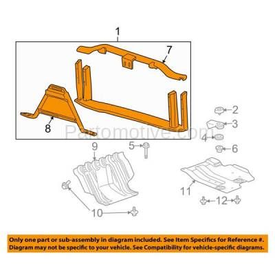 Aftermarket Replacement - RSP-1326 2007-2009 Cadillac Escalade/ESV/EXT & Chevrolet/GMC Avalanche/Suburban/Tahoe/Yukon XL 1500/2500 Front Center Radiator Support Assembly - Image 3