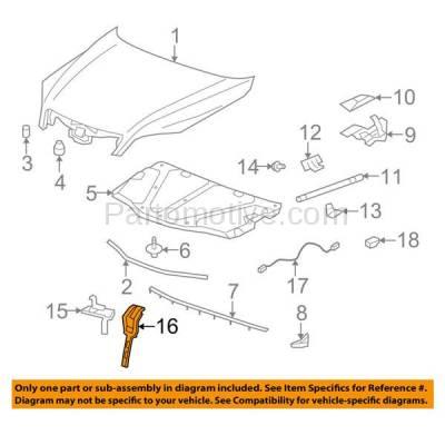 Aftermarket Replacement - RSP-1335 2008-2010 Saturn Vue & 2012-2015 Chevrolet Captiva Sport Front Radiator Support Center Hood Latch Lock Support Bracket Steel - Image 3