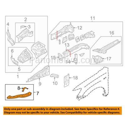 Aftermarket Replacement - RSP-1586R 2011-2018 Mitsubishi Outlander Sport & RVR (2.0 & 2.4 Liter) Front Radiator Support Upper Side Bracket Brace Panel Right Passenger Side - Image 3