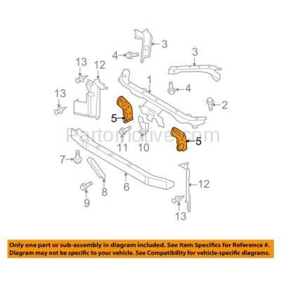 Aftermarket Replacement - RSP-1648L 2007-2012 Nissan Versa (1.6, 1.6 Base, 1.8 S, 1.8 SL, S, SL) Front Radiator Support Side Bracket Brace Support Panel Left Driver Side - Image 3
