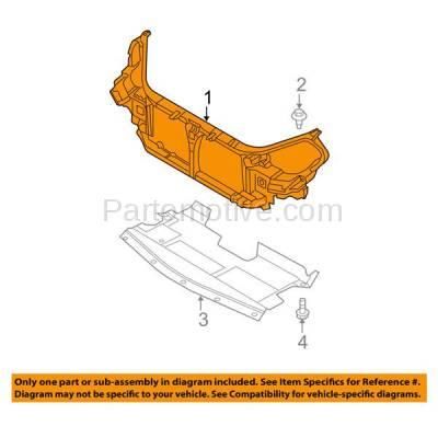 Aftermarket Replacement - RSP-1589 2002-2006 Nissan Altima (Base, S, SE, SE-R, SL) 2.5L/3.5L (Sedan 4-Door) Front Center Radiator Support Core Assembly Primed Plastic - Image 3