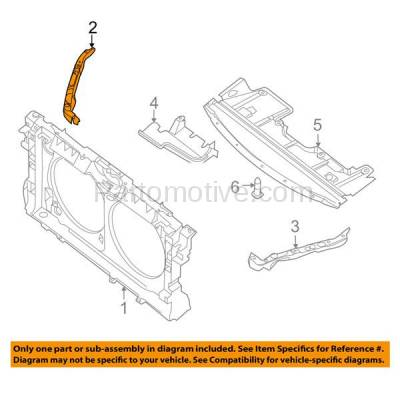 Aftermarket Replacement - RSP-1591R 2007-2009 Nissan Altima & 2009-2014 Maxima Front Radiator Support Side Bracket Brace Panel Primed Made of Steel Right Passenger Side - Image 3