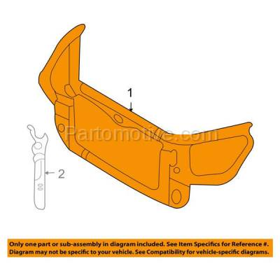 Aftermarket Replacement - RSP-1429 2006-2008 Kia Optima & Magentis (EX, LX, LX Premium, Luxury) Front Center Radiator Support Core Assembly Primed Plastic with Steel - Image 3