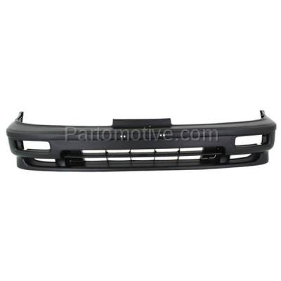 Aftermarket Replacement - BUC-1000F 90-91 Integra Front Bumper Cover Assembly Primed w/Fog AC1000110 71101SK7305ZZ - Image 1