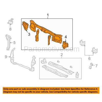 Aftermarket Replacement - RSP-1165 2001-2007 Ford Escape & 2005-2007 Mercury Mariner Front Radiator Support Upper Crossmember Tie Bar Panel Primed Made of Steel - Image 3