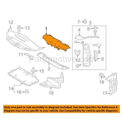 Aftermarket Replacement - RSP-1468 2016-2017 Lexus IS200t & 2014-2018 IS250/IS350 & 2016-2018 IS300 Front Radiator Support Upper Crossmember Tie Bar Primed Steel - Image 3