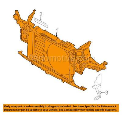 Aftermarket Replacement - RSP-1557 2007-2015 Mini Cooper (Convertible & Coupe & Hatchback & Wagon) Front Center Radiator Support Core Assembly Primed Made of Plastic - Image 3