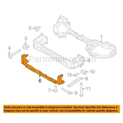 Aftermarket Replacement - RSP-1198 2012-2018 Ford Focus (Electric) & 2014-2018 Ford Transit Connect Front Radiator Support Lower Crossmember Tie Bar Primed Made of Steel - Image 3