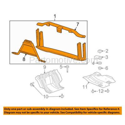 Aftermarket Replacement - RSP-1260 2010-2014 Cadillac Escalade/ESV/EXT & Chevy Avalanche/Suburban/Tahoe & GMC Yukon XL 1500/2500 Front Radiator Support Assembly Aluminum - Image 3