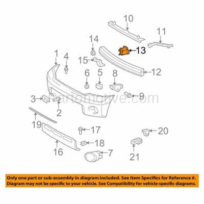 Aftermarket Replacement - BBK-1687L 2008-2018 Toyota Sequoia & 2007-2019 Tundra Pickup Truck Front Bumper Face Bar Retainer Mounting Brace Bracket Steel Left Driver Side - Image 3