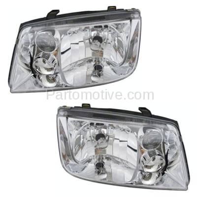 Aftermarket Replacement - HLT-1001L & HLT-1001R 99-02 Jetta w/o Fog Lamp Headlight Headlamp Head Light Lamp Left Right Side SET PAIR - Image 1