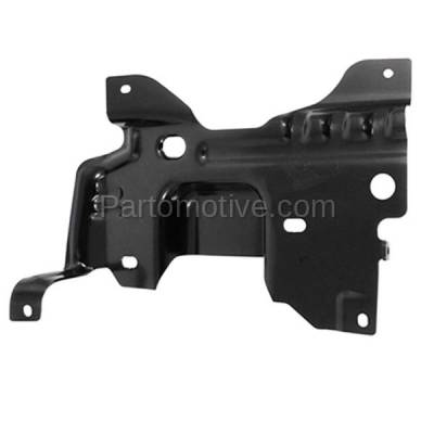 Aftermarket Replacement - BBK-1142L 2009-2014 Ford F150 Lightduty Pickup Truck Front Bumper Face Bar Retainer Mounting Plate Brace Bracket Made of Steel Left Driver Side - Image 1