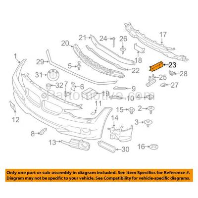 Aftermarket Replacement - BBK-1014R 2012-2018 BMW 3-Series & 2014-2018 2/4-Series (2.0 & 3.0 Liter Engine) Front Bumper Face Bar Retainer Mounting Brace Bracket Passenger Side - Image 3